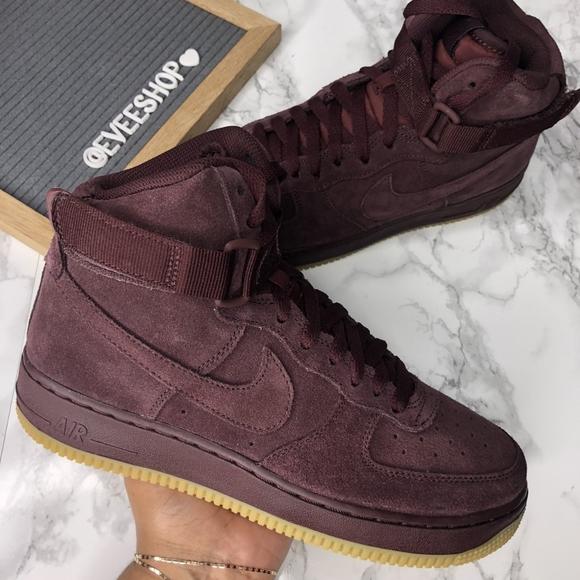 Nike Shoes | Nike Air Force Burgundy
